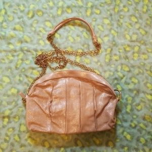 Max & Co evening bag shimmer gold